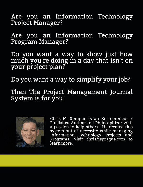 The Project Management Journal System Fear Authentic Empathy WACASHWI Track Non-Project Plan Tasks