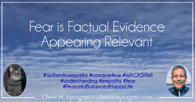 Fear is Factual Evidence Appearing Relevant